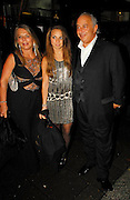 16.OCTOBER.2007. LONDON<br /> <br /> PHILLIP GREEN ALONG WITH WIFE TINA AND DAUGHTER CHLOE LEAVING ANNABELLS CLUB MAYFAIR FOR THE PREVIEW OF KATE&rsquo;S NEW TOP SHOP CLOTHING LINE.<br /> <br /> BYLINE: EDBIMAGEARCHIVE.CO.UK<br /> <br /> *THIS IMAGE IS STRICTLY FOR UK NEWSPAPERS AND MAGAZINES ONLY*<br /> *FOR WORLD WIDE SALES AND WEB USE PLEASE CONTACT EDBIMAGEARCHIVE - 0208 954 5968*