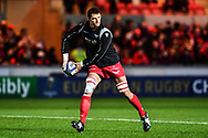 Scarlets' Aaron Shingler during the pre match warm up<br /> <br /> Photographer Craig Thomas/Replay Images<br /> <br /> European Rugby Champions Cup Round 5 - Scarlets v Toulon - Saturday 20th January 2018 - Parc Y Scarlets - Llanelli<br /> <br /> World Copyright &copy; Replay Images . All rights reserved. info@replayimages.co.uk - http://replayimages.co.uk