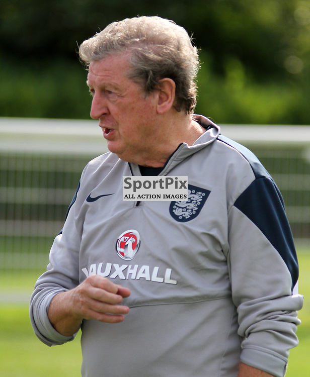 Roy Hodgson talks to the media During England Training on Monday the 7th September 2015.