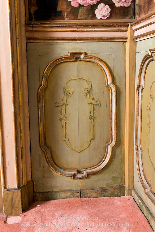 Powder room and back areas of Rosen House prior to renovations to install bathrooms at Caramoor in Katonah New York on February 19, 2016. <br /> (photo by Gabe Palacio)