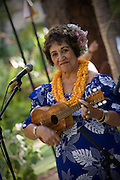 Ukulele player at luau  (editorial use only, no model release)