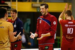 20141029 BEL: Eredivisie, Callant Antwerpen - Volley Behappy2 Asse - Lennik: Antwerpen<br />Bas van Bemmelen (9) of Callant Antwerpen<br />©2014-FotoHoogendoorn.nl / Pim Waslander