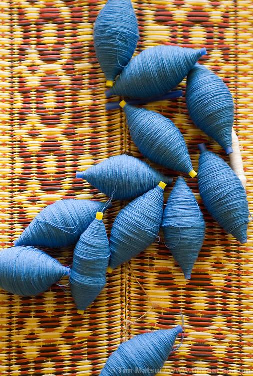 Spools of thread, Mae Sai, Thailand.