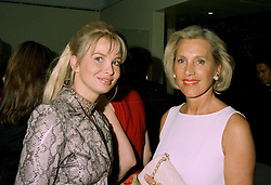 "Left to right, MISS CARRINA LARSEN friend of ""Muck"" Flick and MRS LUCE DANIELSON friend of Winston Churchill, at a party in London on 11th June 1997.LZG 86"