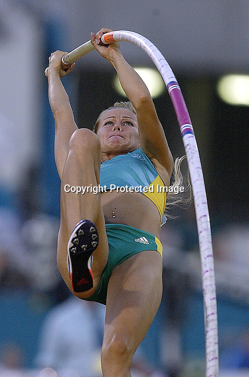 29 July 2002, City of Manchester stadium, Commonwealth Games, Manchester, England. Women's pole vault; Australian Tatiana Grigorieva.<br />
