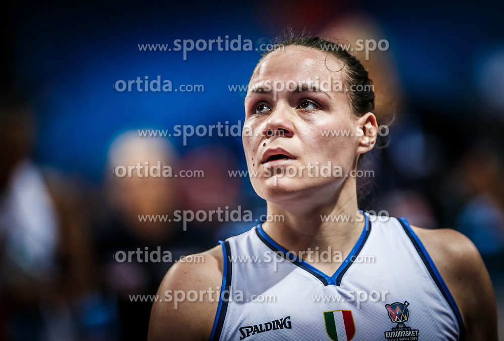 Martina Crippa of Italy during basketball match between Women National teams of Italy and Slovenia in Group phase of Women's Eurobasket 2019, on June 30, 2019 in Sports Center Cair, Nis, Serbia. Photo by Vid Ponikvar / Sportida