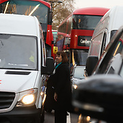 The activist group Stop Killing Londoners disrupt the traffic  in Marble Arch, Central London, United Kingdom 29th of Janyary2018. The group stopped the traffic temporarely numerous times causing severe disruption to morning rush hour traffic by sittng in the road. The group wants to draw attention to the damage and deaths by air pollution caused by traffic. No arrest were made and police secured a safe invironment and re-directed traffic as best as they could. The action was over by 8.30am.