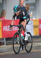 LONDON UK 31ST JULY 2016:  Geraint Thomas of Team Sky Wimbledon Village. The Prudential RideLondon-Surrey Classic  in London 31st July 2016<br /> <br /> Photo: Joe Toth/Silverhub for Prudential RideLondon<br /> <br /> Prudential RideLondon is the world's greatest festival of cycling, involving 95,000+ cyclists – from Olympic champions to a free family fun ride - riding in events over closed roads in London and Surrey over the weekend of 29th to 31st July 2016. <br /> <br /> See www.PrudentialRideLondon.co.uk for more.<br /> <br /> For further information: media@londonmarathonevents.co.uk