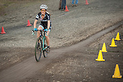 Rebound Tireless Velo team members at Race 6 of the Cyclocross Crusade Series at Barton Park, Oregon, 4 November 2012.