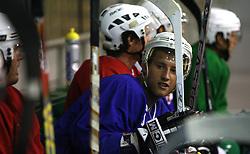 at second ice hockey practice of HDD Tilia Olimpija on ice in the new season 2008/2009, on August 19, 2008 in Hala Tivoli, Ljubljana, Slovenia. (Photo by Vid Ponikvar / Sportal Images)