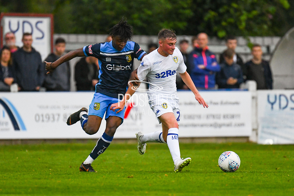 Leeds United Robbie Gotts (25) in action during the Pre-Season Friendly match between Tadcaster Albion and Leeds United at i2i Stadium, Tadcaster, United Kingdom on 17 July 2019.