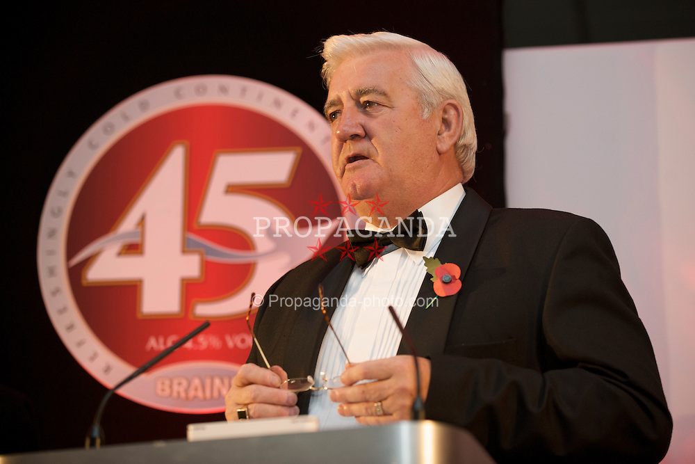 CARDIFF, WALES - Wednesday, November 11, 2009: Wales' President Phil Pritchard during the Football Association of Wales Player of the Year Awards hosted by Brains SA at the Cardiff City Stadium. (Pic by David Rawcliffe/Propaganda)