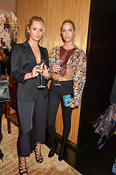 Left to right, LILY FORBES and PRINCESS MARIA-OLYMPIA OF GREECE at the Louis Vuitton for Unicef Event #MAKEAPROMISE held at The Apartment, 17-20 New Bond Street, London on 14th January 2016.