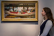The White Canoe by Sir Alfred Munnings, est £500-700k - Christie's preview exhibition of works from its upcoming British Impressionism Sale, on view to the public from 18-22 November 2017. The auction will take place on 22 November 2017 at Christie's King Street.