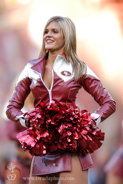 Nov 5, 2006 San Francisco, CA, USA: San Francisco 49ers Gold Rush cheerleader performs during the second half against the Minnesota Vikings at Monster Park. The 49ers defeated the Vikings 9-3.