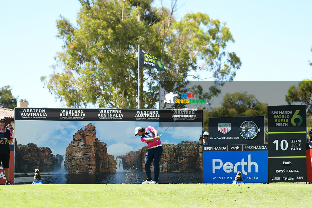 PERTH, AUSTRALIA - FEBRUARY 14: Gavin Green (MAL) on the 10th tee during the 1st round of the ISPS Handa World Super 6, Lake Karrinyup Country Club, Perth, Western Australia, on February 14, 2019. <br /> .<br /> .<br /> .<br /> (Photo by: Naratip Golf Srisupab/SEALs Sports Images)<br /> .<br /> Any image use must include a mandatory credit line adjacent to the content which should read: Naratip Golf Srisupab/SEALs Sports Images