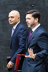 Downing Street, London, July 5th 2016. State for Business Secretary Sajid Javid and Work and Pensions Secretary Stephen Crabb arrives at 10 Downing Street for the weekly cabinet meeting