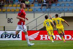 Ivan Firer #7 of NK Domzale  and Jure Matjasic #11 of NK Domzale  during 2nd Leg football match between FC Valur Reykjavik and NK Domzale in 2nd Qualifying Round of UEFA Europa League 2017/18, on July 20, 2017 in Domzale, Slovenia. Photo by Grega Valancic / Sportida