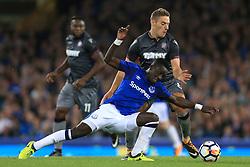 17th August 2017 - UEFA Europa League - Play-Off (1st Leg) - Everton v Hajduk Split - Idrissa Gueye of Everton battles with Nikola Vlasic of Hajduk - Photo: Simon Stacpoole / Offside.