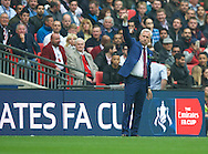 Manager Alan Pardew of Crystal Palace acknowledges the fans during the FA Cup Final at Wembley Stadium, London<br /> Picture by Alan Stanford/Focus Images Ltd +44 7915 056117<br /> 21/05/2016