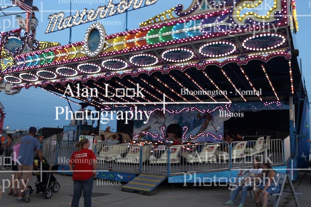 07 August 2015:   McLean County Fair - Matterhorn amusement ride.