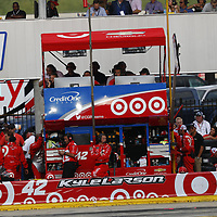 May 28, 2017 - Concord, NC, USA: Kyle Larson (42) comes down pit road for service during the Coca Cola 600 at Charlotte Motor Speedway in Concord, NC.
