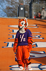 November 21, 2009; Clemson, SC, USA;  Clemson Tigers mascot on the hill before the game against the Virginia Cavaliers at Memorial Stadium.  Clemson defeated Virginia 34-21.