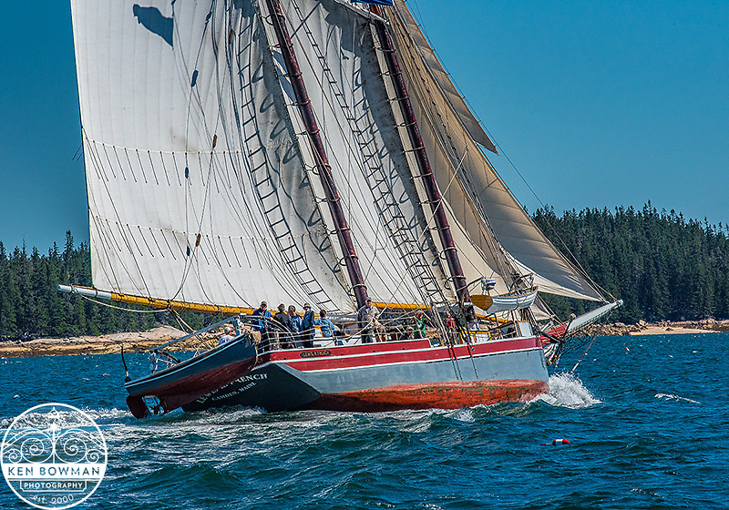 Lewis R. French Maine Windjammer under sail.