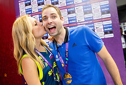 Sanja Modric of POP TV and Matej Likar after the Final basketball match between National Teams  Slovenia and Serbia at Day 18 of the FIBA EuroBasket 2017 at Sinan Erdem Dome in Istanbul, Turkey on September 17, 2017. Photo by Vid Ponikvar / Sportida