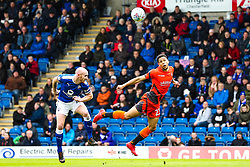 Nathan Tyson of Wycombe Wanderers challenges Drew Talbot of Chesterfield - Mandatory by-line: Robbie Stephenson/JMP - 28/04/2018 - FOOTBALL - Proact Stadium - Chesterfield, England - Chesterfield v Wycombe Wanderers - Sky Bet League Two