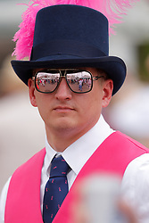 May 3, 2019 - Louisville, KY, U.S. - LOUISVILLE, KY - MAY 03: Race fans wore pink in support of breast cancer on Kentucky Oaks day at Churchill Downs Racetrack on May 4, 2018 in Louisville, Kentucky. (Photo by Jeffrey Brown/Icon Sportswire) (Credit Image: © Jeffrey Brown/Icon SMI via ZUMA Press)