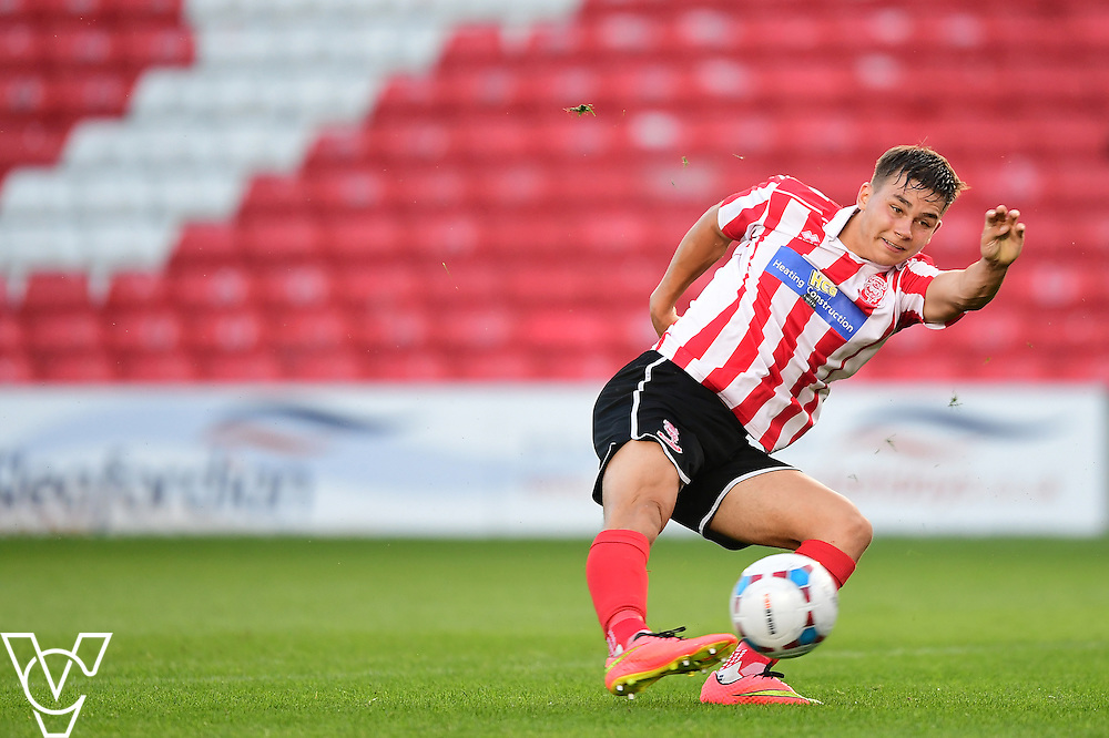 Lincoln City&rsquo;s Jack McMenemy<br /> <br /> Lincoln City under 18s Vs Leicester City under 18s at Sincil Bank, Lincoln.<br /> <br /> Picture: Chris Vaughan/Chris Vaughan Photography<br /> <br /> Date: July 28, 2016
