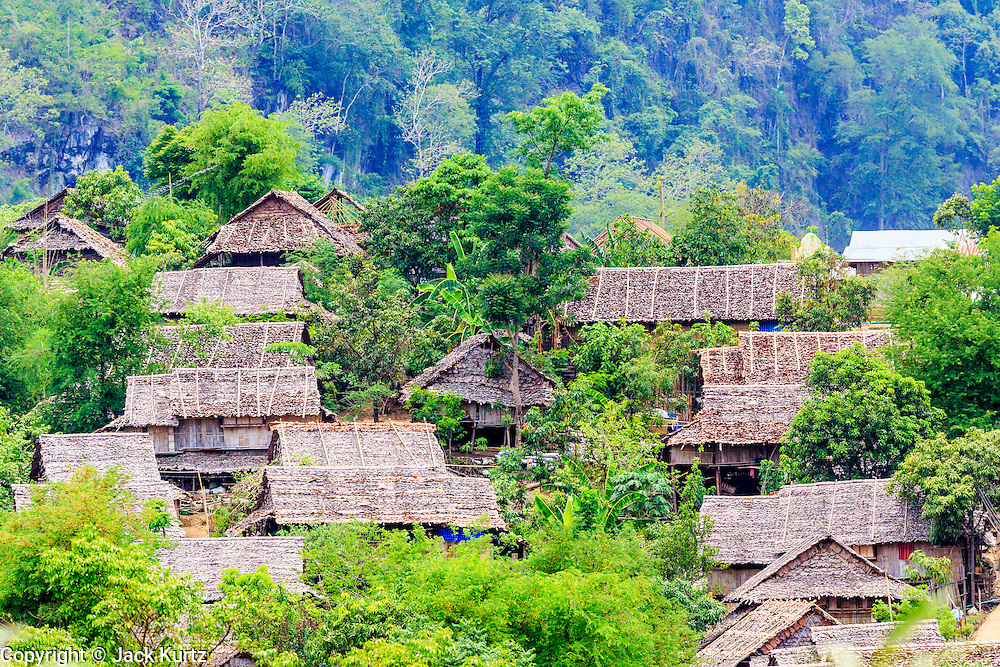 22 MAY 2013 - MAELA REFUGEE CAMP, TAK, THAILAND:  Overview of Mae La Refugee Camp. Mae La (Maela) is the largest refugee camp for Burmese in Thailand. Over 90% are ethnic Karen. It was established in 1984 in Tha Song Yang District, Tak Province in the Dawna Range area and currently houses 40,000 refugees. The Thai government has indicated that it would like to close the camp and repatriate the refugees to Myanmar as soon as the political situation in Myanmar is stable enough.   PHOTO BY JACK KURTZ