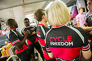 Cycle for Freedom launch event at Condor Cycles. Guy Bell, 07771 786236, guy@gbphotos.com
