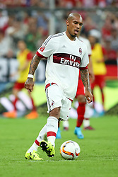 04.08.2015, Allianz Arena, Muenchen, GER, AUDI CUP, FC Bayern Muenchen vs AC Mailand, im Bild Nigel de Jong (AC Mailand #34) // during the 2015 AUDI Cup Match between FC Bayern Muenchen and AC Mailand at the Allianz Arena in Muenchen, Germany on 2015/08/04. EXPA Pictures © 2015, PhotoCredit: EXPA/ Eibner-Pressefoto/ Schüler<br /> <br /> *****ATTENTION - OUT of GER*****