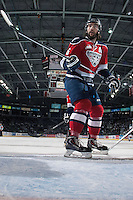 KELOWNA, CANADA - MARCH 23: Justin Hamonic #6 of the Tri-City Americans skates against the Kelowna Rockets on March 23, 2014 during game 2 of the first round of WHL Playoffs at Prospera Place in Kelowna, British Columbia, Canada.   (Photo by Marissa Baecker/Getty Images)  *** Local Caption *** Justin Hamonic;