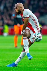 Ryan Babel #49 of Ajax missed the ball during the match between Ajax and PSV at Johan Cruyff Arena on February 02, 2020 in Amsterdam, Netherlands