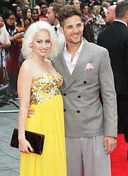 © Licensed to London News Pictures. Kimberly Wyatt and Max Rogers at The Wolverine UK film premiere, Leicester Square, London UK, 16 July 2013. Photo by Richard Goldschmidt/LNP