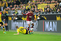01.03.2014, Signal Iduna Park, Dortmund, GER, 1. FBL, Borussia Dortmund vs 1. FC Nuernberg, 23. Runde, im Bild Martin Angha (1 FC Nuernberg #6) im Zweikampf gegen / tackling against Kevin Grosskreutz (Borussia Dortmund #19), Aktion, Action // during the German Bundesliga 23th round match between Borussia Dortmund and 1. FC Nuernberg at the Signal Iduna Park in Dortmund, Germany on 2014/03/01. EXPA Pictures © 2014, PhotoCredit: EXPA/ Eibner-Pressefoto/ Schueler<br /> <br /> *****ATTENTION - OUT of GER*****