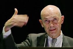 Pascal Lamy, ex-comiss&aacute;rio da Uni&atilde;o Europ&eacute;ia para o Com&eacute;rcio palestra sobre &quot;Bilateralismo x Multilateralismo: para onde vai o com&eacute;rcio mundial&quot;, no semin&aacute;rio &ldquo;Perspectivas da Economia Brasileira &ndash; Agenda para o Crescimento&rdquo;, no Renaissance S&atilde;o Paulo Hotel, em 14 de abril, Sao Paulo.<br /> FOTO: Jefferson Bernardes/Preview.com