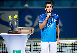Runner up Viktor Durasovic of Norway at Trophy ceremony after the Final match at Day 10 of ATP Challenger Zavarovalnica Sava Slovenia Open 2019, on August 18, 2019 in Sports centre, Portoroz/Portorose, Slovenia. Photo by Vid Ponikvar / Sportida