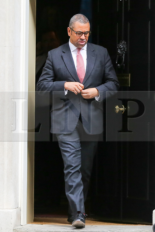 © Licensed to London News Pictures. 10/09/2019. London, UK. Minister Without Portfolio JAMES CLEVERLY departs from No 10 Downing Street after attending the weekly Cabinet Meeting. Photo credit: Dinendra Haria/LNP