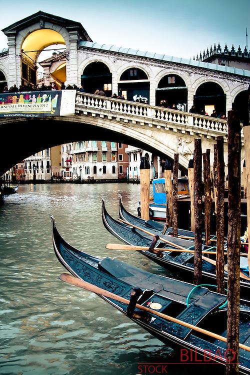grand canal and gondolas. Venice, Italy.