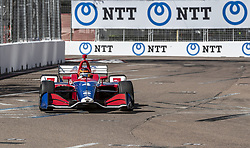March 8, 2019 - St. Petersburg, Florida, U.S. - MATHEUS LEIST (4) of Brazil goes through the turns during practice for the Firestone Grand Prix of St. Petersburg at Temporary Waterfront Street Course in St. Petersburg, Florida. (Credit Image: © Walter G Arce Sr Asp Inc/ASP)