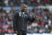 Derby County assistant manager Chris Powell during the EFL Sky Bet Championship match between Derby County and Sheffield Wednesday at the iPro Stadium, Derby, England on 29 October 2016. Photo by Jon Hobley.