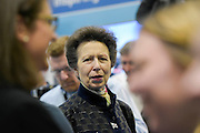 HRH Princess Anne attend the show with her husband.  They make a tour of the show which includes awarding the Yachtmaster of the Year award, on the RYA stand (pictured), as well as meeting Sir Ben Ainslie, on his BAR stand. The CWM FX London Boat Show, taking place 09-18 January 2015 at the ExCel Centre, Docklands, London. 09 Jan 2015.