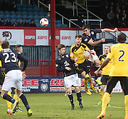 Declan Gallagher comes close with a header  - Dundee v Livingston,  SPFL Championship at Dens Park<br /> <br />  - &copy; David Young - www.davidyoungphoto.co.uk - email: davidyoungphoto@gmail.com