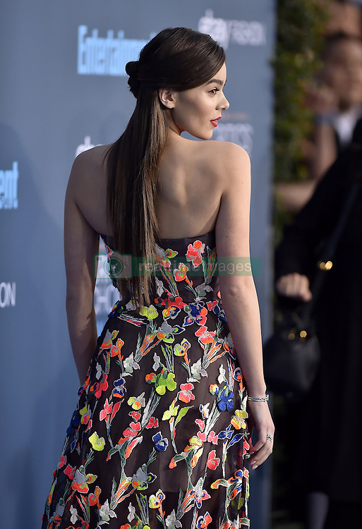 Hailee Steinfeld attends the 22nd Annual Critics' Choice Awards at Barker Hangar on December 11, 2016 in Santa Monica, Los Angeles, CA, USA. Photo By Lionel Hahn/ABACAPRESS.COM