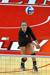 23 November 2017:  Rylee Cookerly during a college women's volleyball match between the Valparaiso Crusaders and the Illinois State Redbirds in the Missouri Valley Conference Tournament at Redbird Arena in Normal IL (Photo by Alan Look)