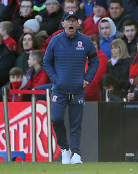 Middlesbrough manager Tony Pulis gestures on the touchline